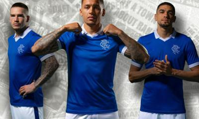 Rangers FC 2020 2021 Castore Retro Home Football Kit, 2020-21 Soccer Jersey, 2020/21 Shirt