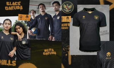 Indonesia 2020 2021 Mills Sport Black Garuda Third Football Kit, 2020-21 Soccer Jersey, 2020/21 Shirt