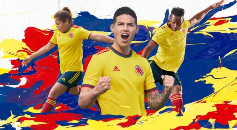 Colombia 2021 2022 Copa América adidas Yellow Home Soccer Jersey, Football Kit, Shirt, Camiseta de Futbol