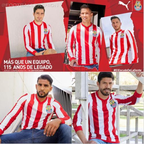Chivas de Guadalajara 2021 PUMA 115th Anniversary Soccer Jersey, Shirt, Football Kit, Camiseta de Futbol, Equipacion 115 Aniversario