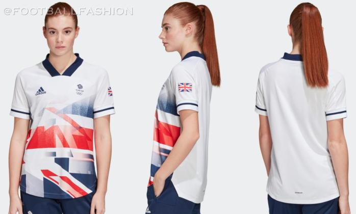 Team Great Britain adidas Tokyo 2020 2021 Olympics Football Kit, Soccer Jersey, Rugby Shirt