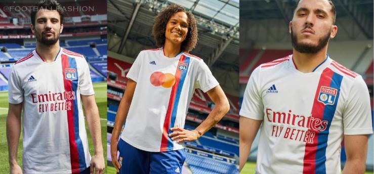 Olympique Lyon 2021 2022 adidas Football Kit, 2021-22 Soccer Jersey, 2021/22 Shirt, Camisa 21/22, Maillot 21-22