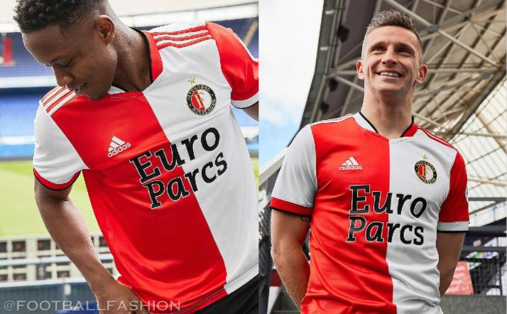 Feyenoord Rotterdam 2021 2022 adidas Home Football Kit, Soccer Jersey, Shirt, Tenue, Thuisshirt