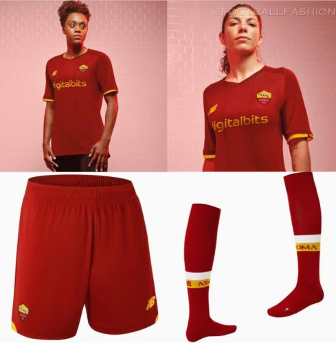 AS Roma 2021 2022 New Balance Home Football Kit, 2021-22 Soccer Jersey, 2021/22 Football Kit, Camiseta 21-22, Camisa 21/22, Maglia, Gara