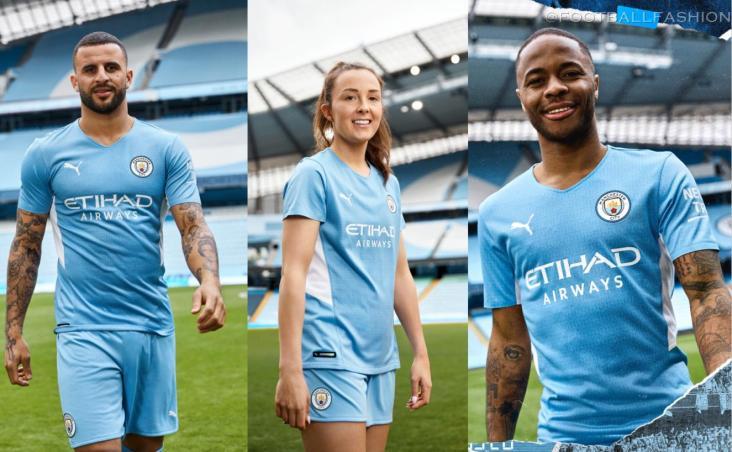 Manchester City FC 2021 2022 PUMA Home Football Kit, 2021-22 Shirt, 2021/22 Soccer Jersey, Maillot 21-22, Camiseta 21/22, Camisa, Trikot, Tenue
