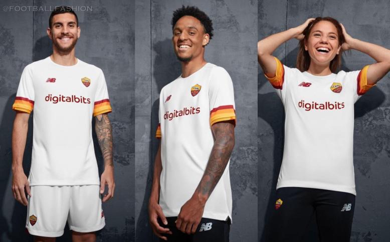 AS Roma 2021 2022 New Balance Away Football Kit, 2021-22 Soccer Jersey, 2021/22 Football Kit, Camiseta 21-22, Camisa 21/22, Maglia