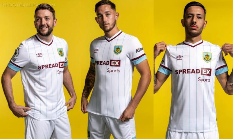 Burnley 2021 2022 Umbro Away Football Kit, 2021-22 Soccer Jersey, 2021/22 Shirt