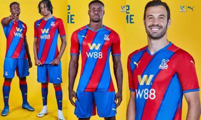Crystal Palace 2021 2022 PUMA Home Football Kit, 2021/22 Soccer Jersey, 2021-22 Premier League Shirt