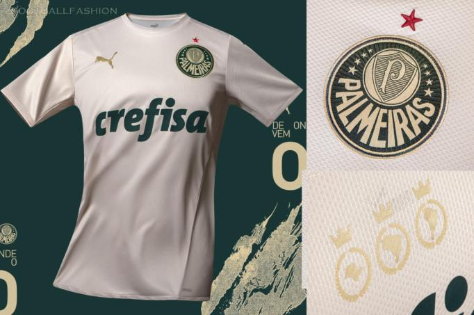 Palmeiras 2021 2022 PUMA Third Football Kit, 2021-22 Soccer Jersey, 2021/22 Shirt, Camisa 3 do Futebol 21-22