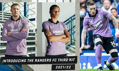 Rangers FC 2021 2022 Castore Purple Third Football Kit, 2021-22 Shirt, 2021/22 Soccer Jersey