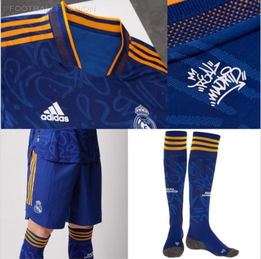 Real Madrid 2021/22 adidas Blue Away Football Kit, 2021-22 Soccer Jersey, 2021/22 Shirt, Camiseta de Futbol 21/22, , Camisa 21/22, Trikot, Maillot, Dres
