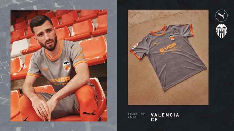 Valencia CF 2021 2022 PUMA Third and Fourth Football Kit, 2021-22 Soccer Jersey, 2021/22 Shirt, Camiseta de Futbol 21-22