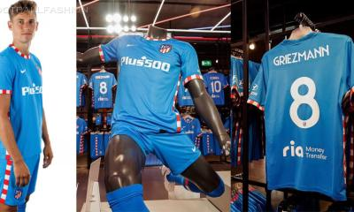 Atlético Madrid 2021 2022 Nike Third Football Kit, 2021-22 Shirt, 2021/22 Soccer Jersey, Camiseta de Futbol 21-22