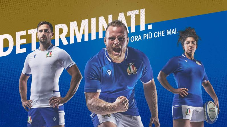 Italy Rugby 2021/22 Macron Home and Away Kits