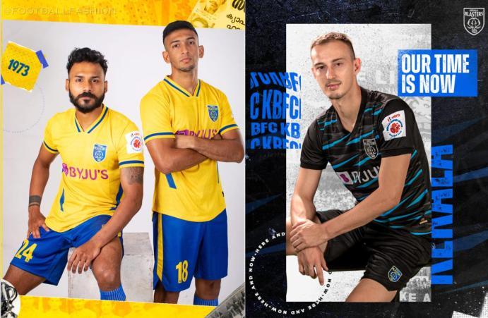 Kerala Blasters 2021 2022 Home and Away Football Kit, Soccer Jersey, Shirt