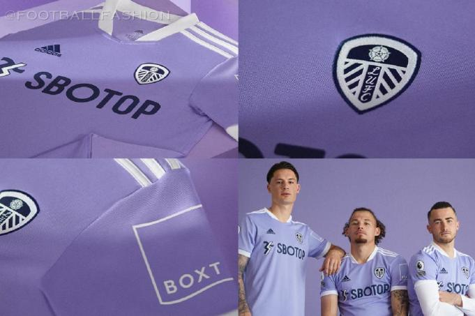 Leeds United 2021 2022 adidas Purple Third Football Kit, 2021-22 Soccer Jersey, 2021/22 Shirt, Camiseta 21-22