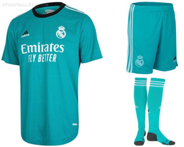 Real Madrid 2021 2022 adidas Green Third Football Kit, 2021-22 Soccer Jersey, 2021/22 Shirt, Camiseta de Futbol 21/22, , Camisa 21/22, Trikot, Maillot, Dres