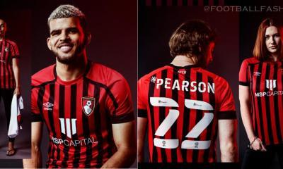 AFC Bournemouth 2021 2022 Umbro Football Kit, 2021/22 Football Shirt, 2021-22 Soccer Jersey
