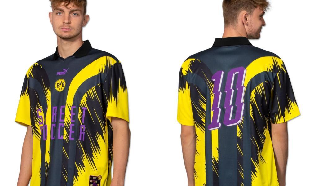 Borussia Dortmund x PUMA Retro Street Soccer Jersey, 2021 Football Kit, 2022 Shirt, Trikot 2021-22