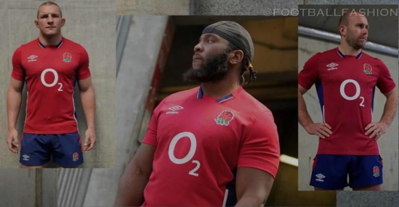 England Rugby 2021 2022 Umbro Away Kit, Shirt, Jersey