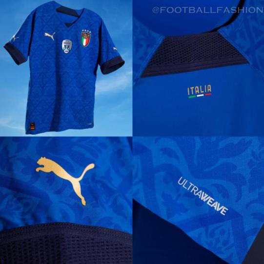 Italy 2021 PUMA Ultraweave Home Nations League Football Kit, Soccer Jersey, Shirt, Maglia Azzurri, Camiseta, Camisa