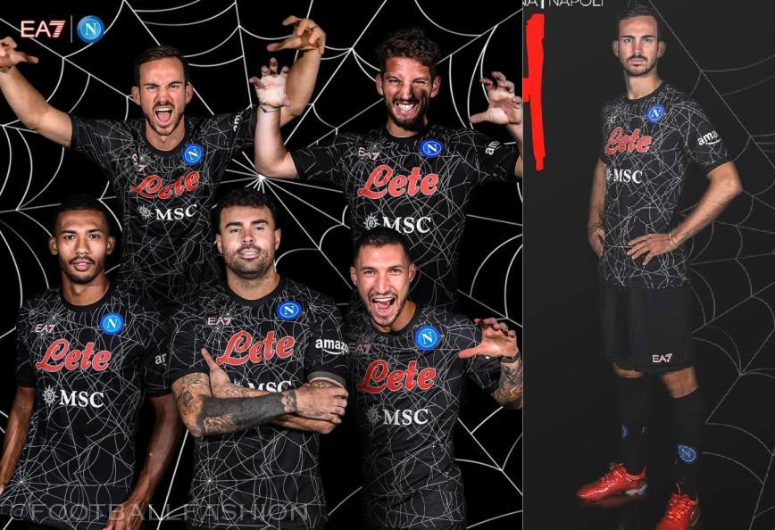 SSC Napoli 2021 EA7 Halloween Football Kit, 2021-22 Soccer Jersey, 2021/22 Shirt, Gara 21-22, Maglia 21/22, Camisa, Camiseta