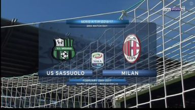 Full match: Sassuolo vs AC Milan