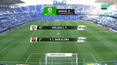 Full match: Malaga vs Barcelona