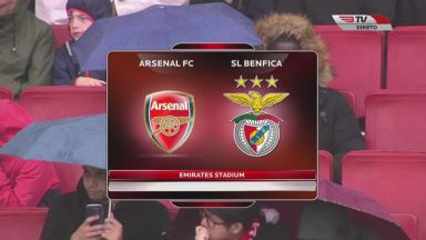 Full match: Arsenal vs Benfica