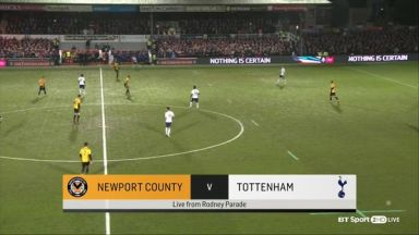 Full match: Newport County vs Tottenham Hotspur