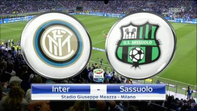 Full match: Inter Milan vs Sassuolo