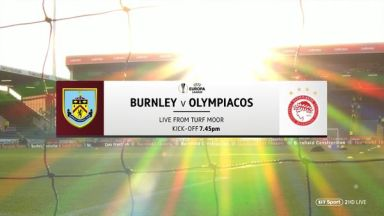 Full match: Burnley vs Olympiakos Piraeus
