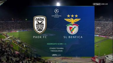 Full match: PAOK vs Benfica