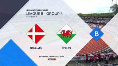 Full match: Denmark vs Wales