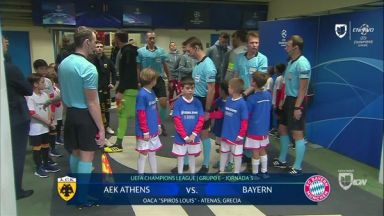 Full match: AEK Athens vs Bayern Munich