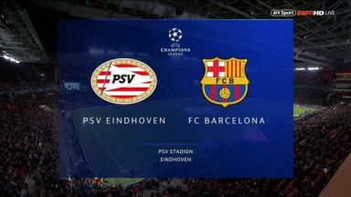 Full match: PSV vs Barcelona