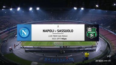 Full match: Napoli vs Sassuolo