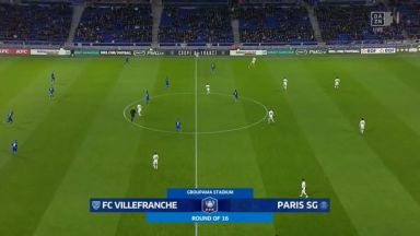 Full match: Villefranche vs PSG