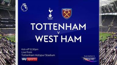 Full match: Tottenham Hotspur vs West Ham United