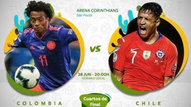 Full match: Colombia vs Chile