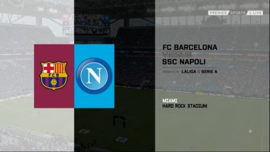 Full match: Barcelona vs Napoli