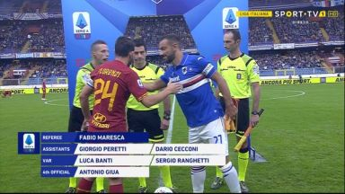 Full match: Sampdoria vs Roma