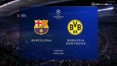 Full match: Barcelona vs Borussia Dortmund