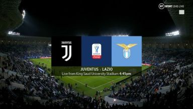 Full match: Juventus vs Lazio
