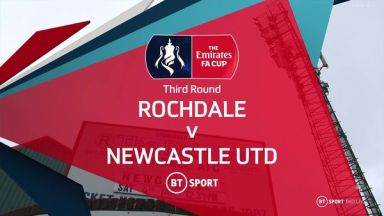 Full match: Rochdale vs Newcastle United