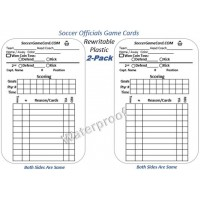 Football Referee Game Cards & Soccer Referee Score Card