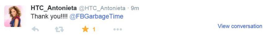 Antonieta Tweet