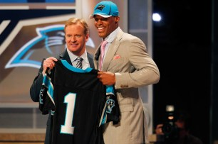 Cam Newton at the 2011 Draft - NFL Photo