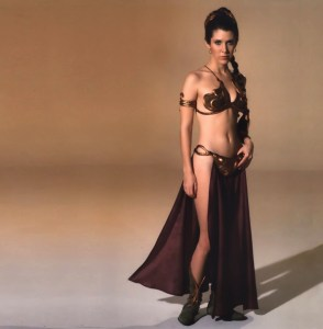 "Carrie Fisher as ""Slave Leia"" from Return of the Jedi - Corbis Image"