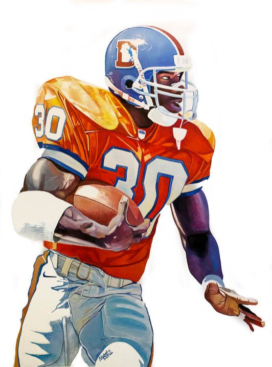 Terrell Davis by Michael Pattison